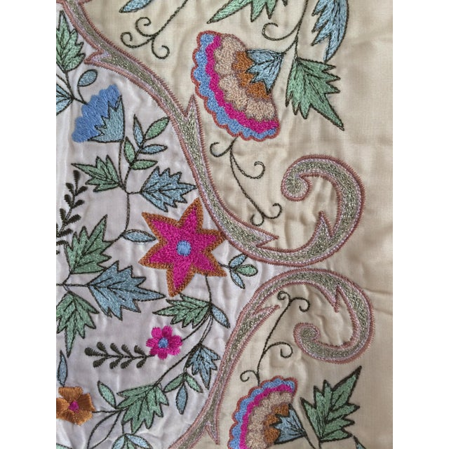 Silk Embroidered Pillow Cover - Image 5 of 6