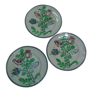 Vintage Arts and Crafts Style Plates - Set of 3
