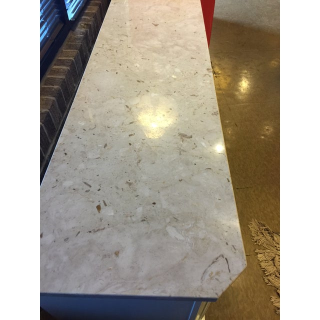 Marble Topped Small Credenza - Image 5 of 6