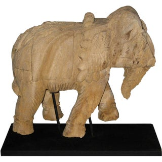 Thai Carved Wood Elephant