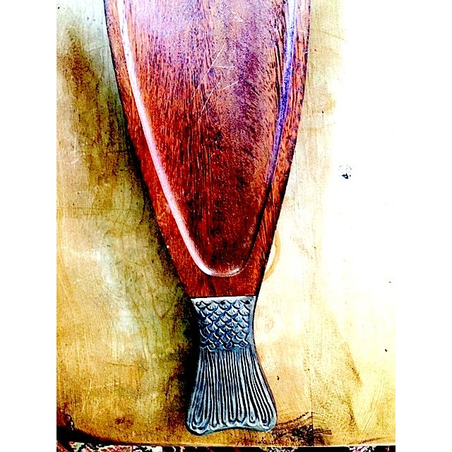 Vintage Wooden Fish Plate - Image 4 of 4