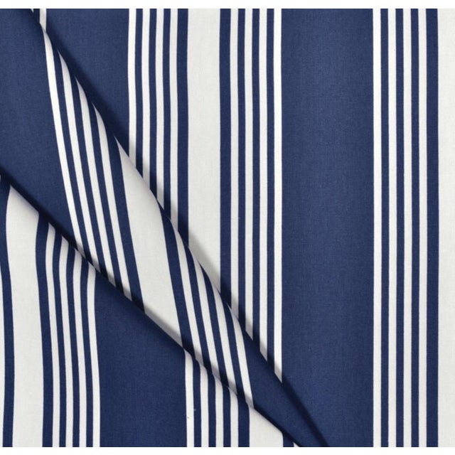 Clear Water Stripe Blue Fabric - 5 Yards - Image 2 of 3