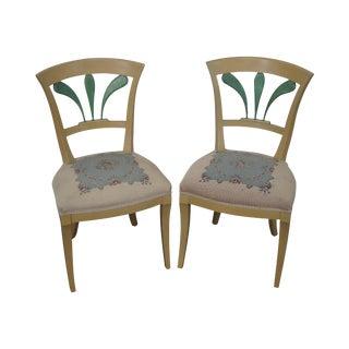 19th C. Biedermeier-Style Side Chairs - A Pair