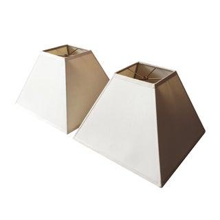 Square Silk Lamp Shades - A Pair