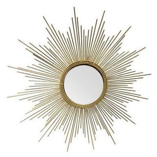 Art Deco Style Gold Starburst Mirror