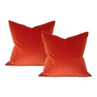 Rust Velvet Pillow Covers - A Pair