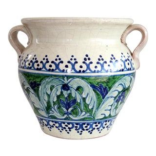 Mexican Hand-Painted Jardiniere