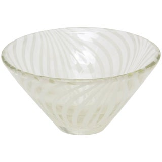 Sculptural Optical Swirled Glass Bowl
