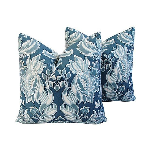 Custom Kravet Lorton Linen Pillows - A Pair - Image 1 of 4