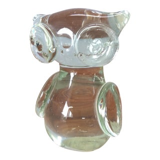 Vintage Glass Owl Figurine