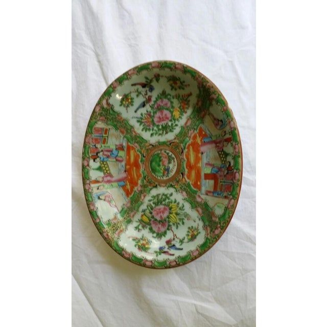 Image of Antique Oriental Famille Rose Shaped Deep Dish