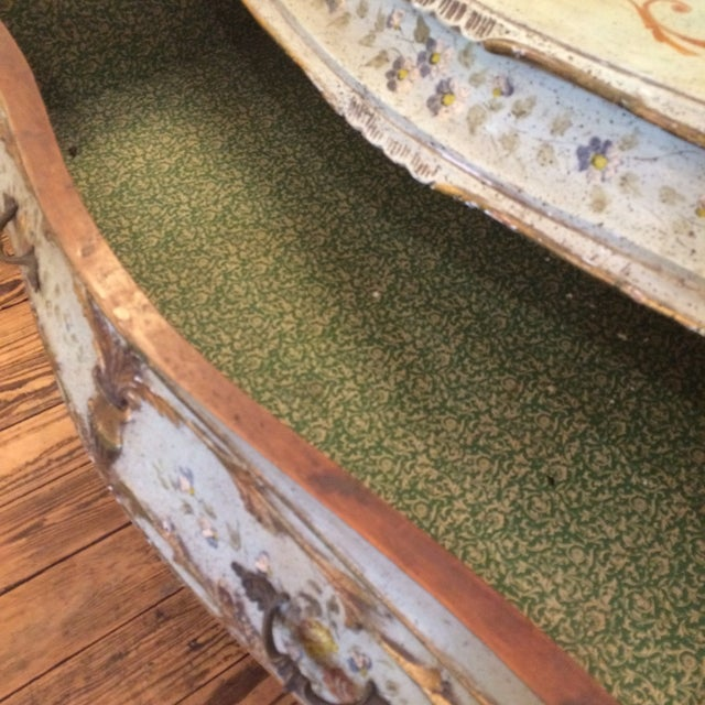 French Rococo Painted & Parcel Gilt Commode - Image 3 of 10