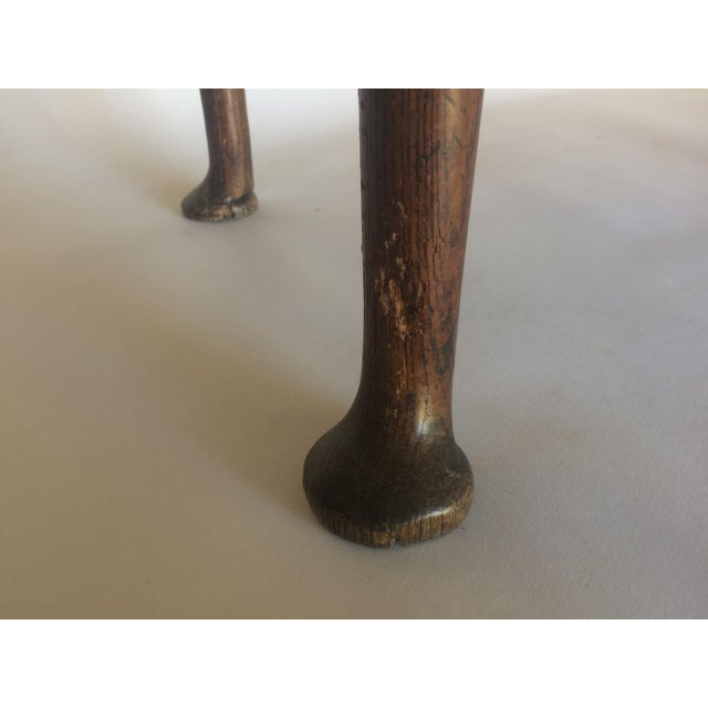 Antique 19th C. English Oak Drop-leaf Gate Leg Table - Image 5 of 10