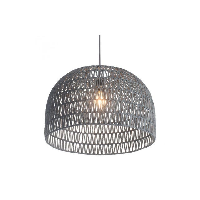 Image of Gray Crocheted Paradiso Pendant Lamp