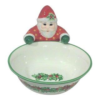 Vintage Ceramic Santa Candy Dish