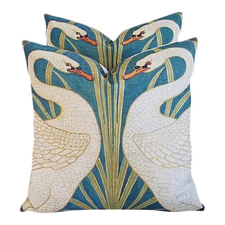 Swans Linen & Down/Feather Pillows - Pair - Image 1 of 8