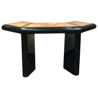 BEAUTIFUL ITALIAN MARBLE TOP CONSOLE TABLE IN THE MANNER OF ALESSANDRO ALBRIZZI