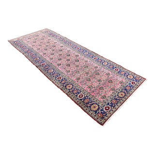 Vintage Turkish Tribal Hand-Knotted Runner - 3′8″ × 9′9″