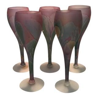 Rueven Art Nouveau Wine Glasses - Set of 4