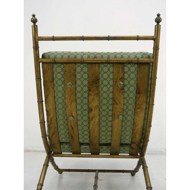 Italian-Style Faux Bamboo Lounge Chair & Ottoman - Image 5 of 9
