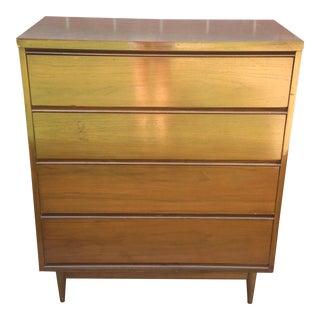 Mid Century Modern 4 Drawer Tallboy Dresser