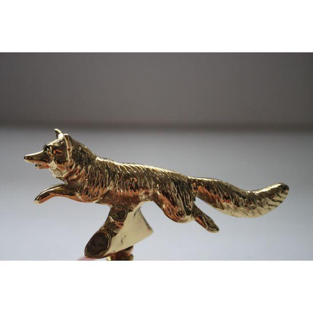 Image of Solid Brass Fox Finials - a Pair