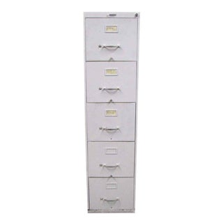Standard Metal 5-Drawer File Cabinet