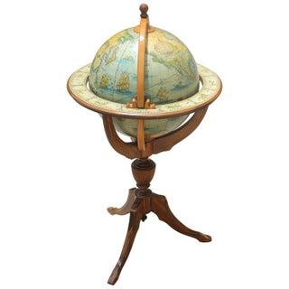 1960s French Mid Century World Globe Bar