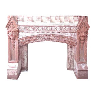 Carved Gothic Fireplace Mantel