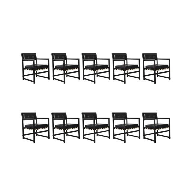 Set of Ten Dunbar Dining Armchairs by Edward Wormley - Image 1 of 7