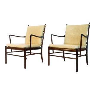 Ole Wanscher Rosewood Colonial Chairs - A Pair