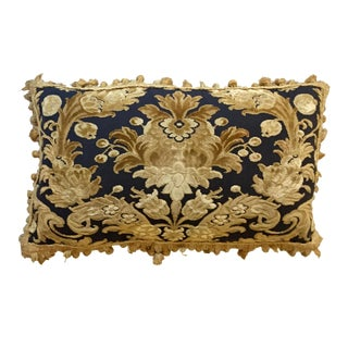 Vintage Kravet Damask Lumbar Pillow