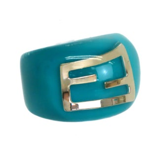 Fendi Emerald Plastic Ring