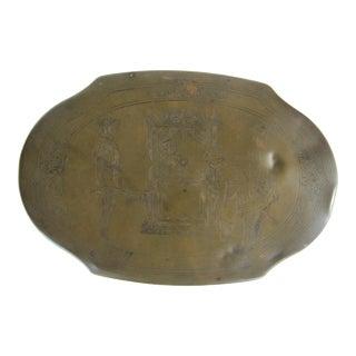 Vintage Brass Schrafft's Chocolate Tin
