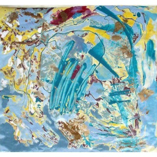 "Suga Lane ""Atlantis"" Abstract Acrylic Painting"
