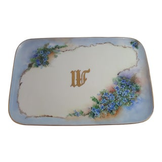Floral Monogrammed Limoges Tray