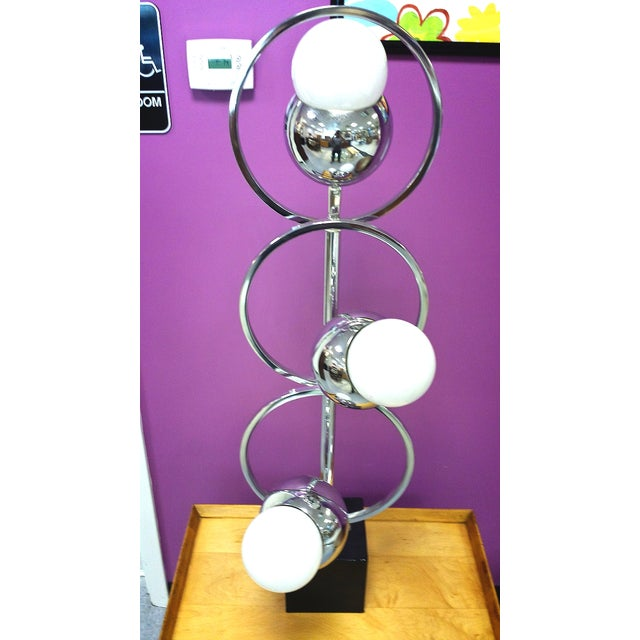 Image of Late Mid-Century Adjustable Chrome Lamp