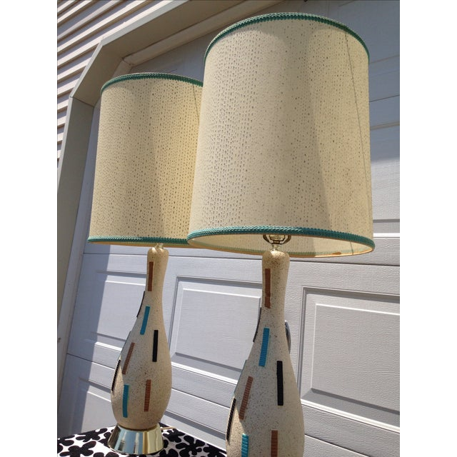 Mid-Century Modern Pottery Lamps - A Pair - Image 3 of 5
