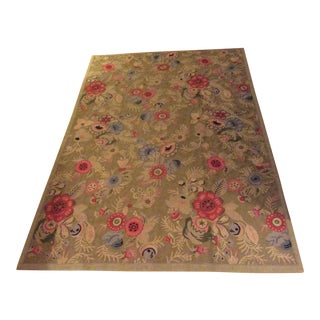 Anthropologie Floral Wool Rug - 4′ × 5′10″