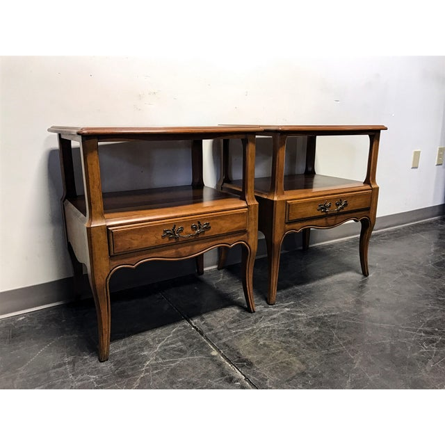 Davis Cabinet Co French Provincial Nightstands - A Pair - Image 4 of 11