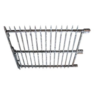 Wrought Iron Gate With Spike Finials