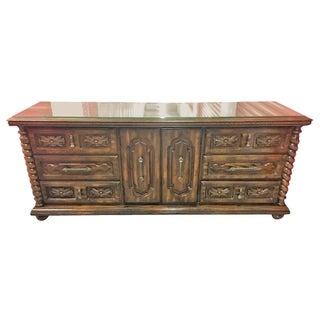 Vintage Wood Barley Twist Dresser