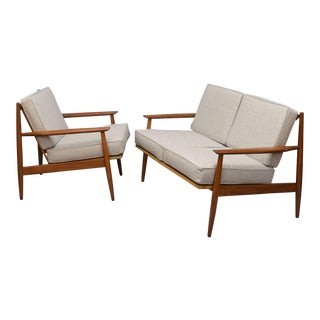 Baumritter Mid-Century Chair & Loveseat Set
