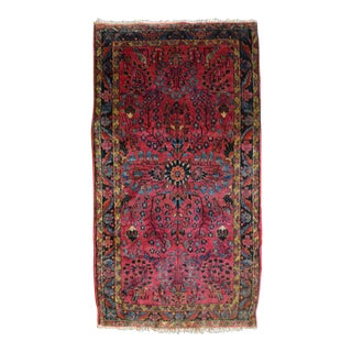 "Antique Persian Sarouk Accent Rug - 2'3"" X 4'1"""