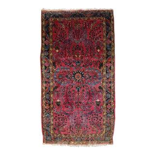 """Antique Persian Sarouk Accent Rug - 2'3"""" X 4'1"""""""
