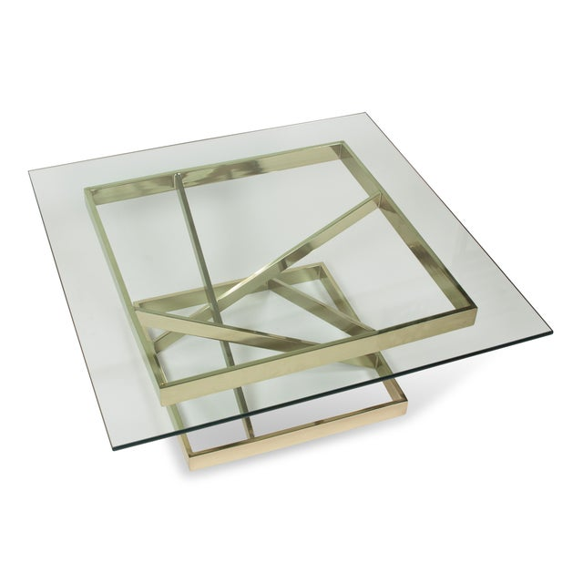 1980s Intersecting Angles Coffee Table - Image 4 of 9
