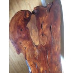 Image of Rosewood Slab Wood Coffee Table