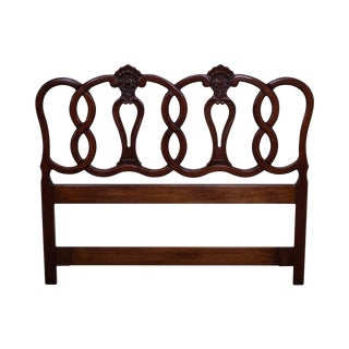French Louis XV Style Fruitwood Queen Size Headboard