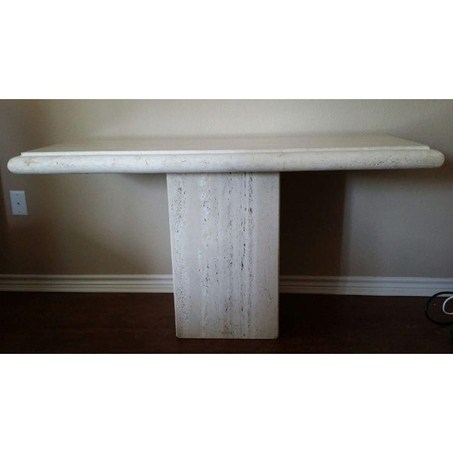 Image of Italian Travertine Console