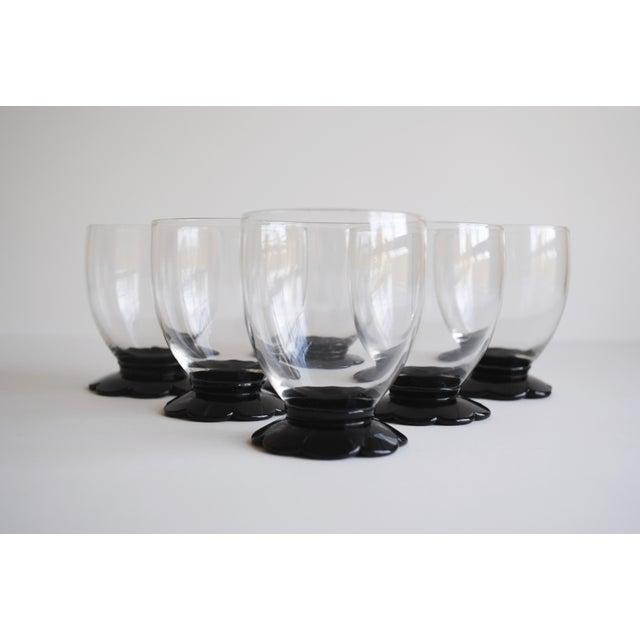 Black Scalloped Cocktail Glasses, Set of 6 - Image 4 of 8